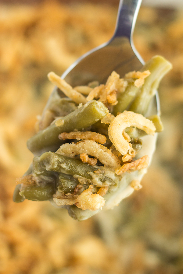 Green Bean Casserole (from scratch!) // bakingyum.com
